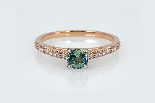 14KR/W Sapphire and Diamond Ring