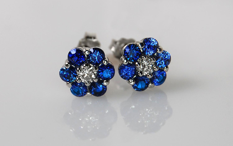 Sapphire & Diamond Flower