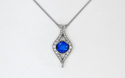 14KW Tanzanite and Diamond Pendant