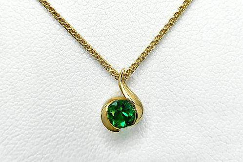 14KY Emerald Drop Pendant