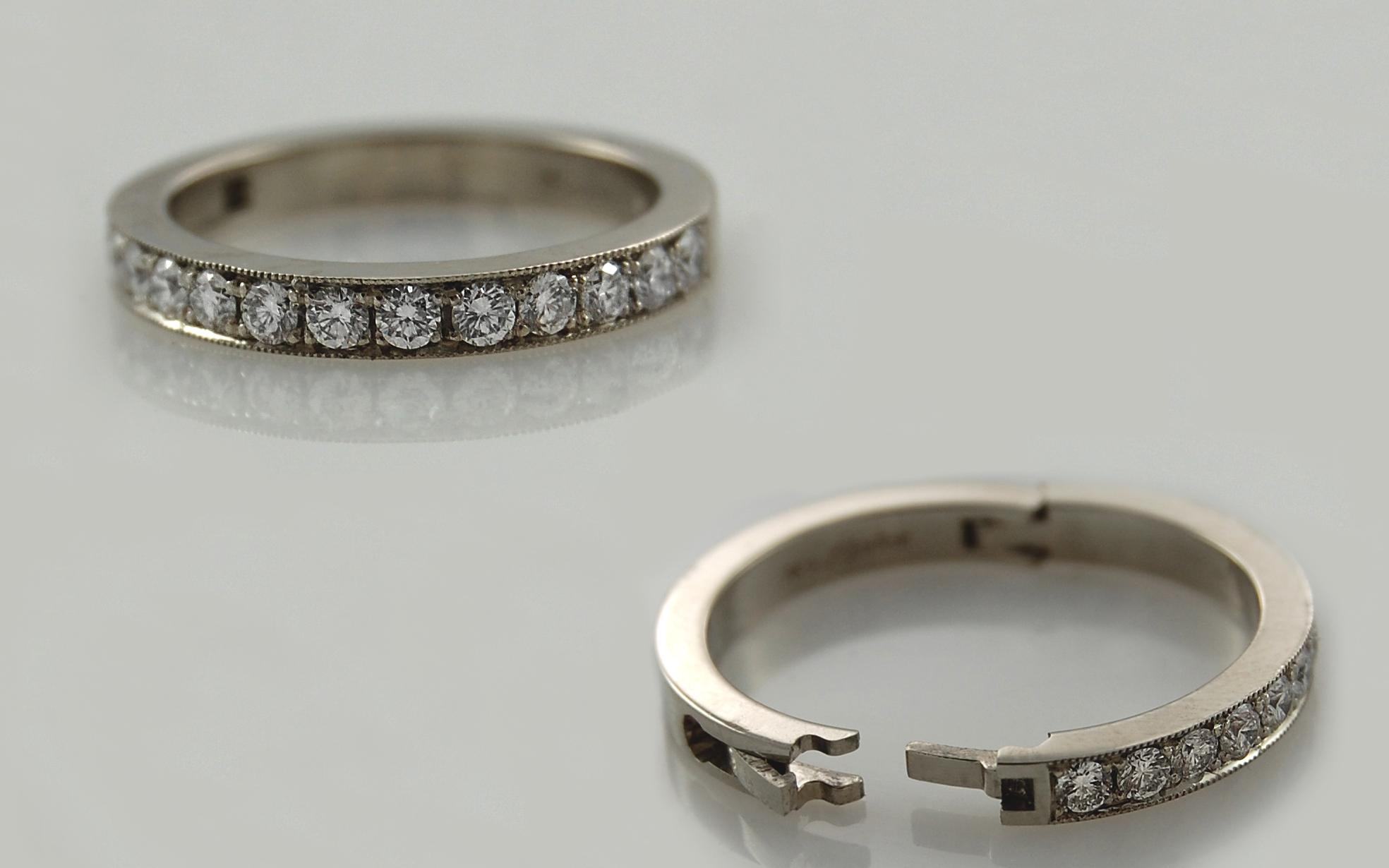 Bead Set Diamonds on 3mm Superfit Band