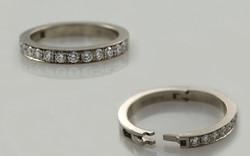 Bead Set Diamonds on 3mm Superfit Band
