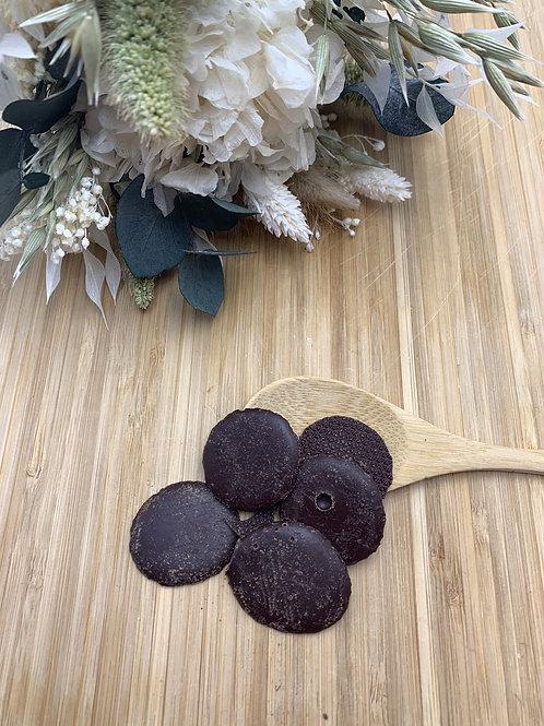 Palets de chocolat noir 70% - 100g