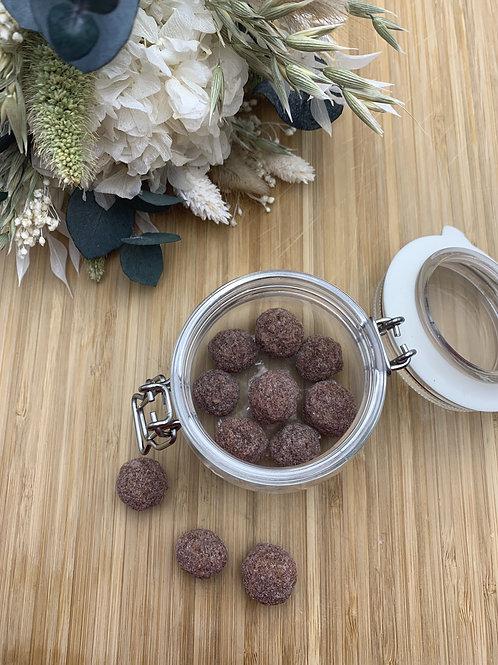 Boules framboise chocolat - 100g