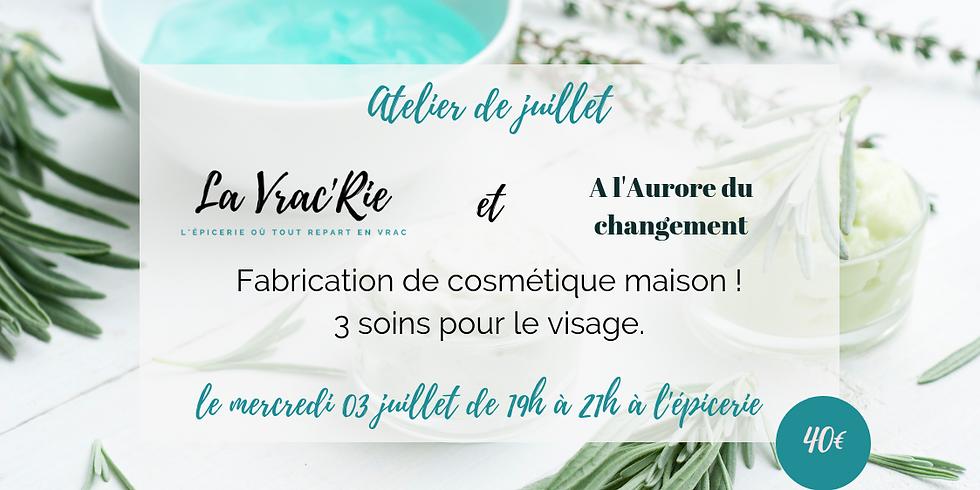 Atelier n°9 : faire ses cosmétiques maisons !