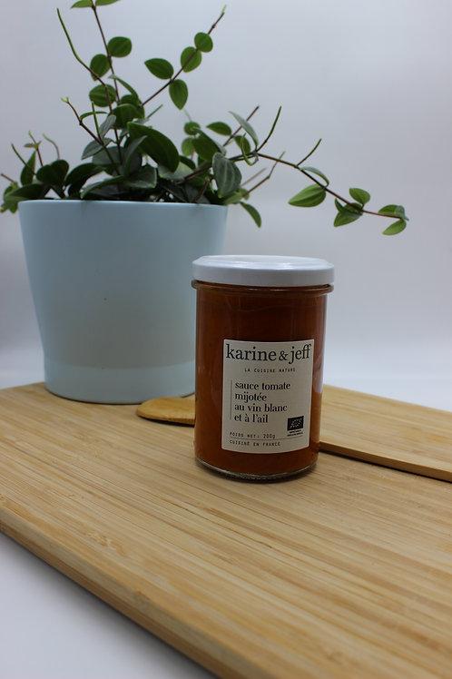 Sauce tomate mijotée au vin blanc et à l'ail - 200g