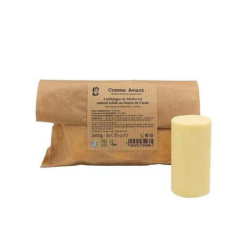Recharge déodorant solide beurre de cacao - 3x50g