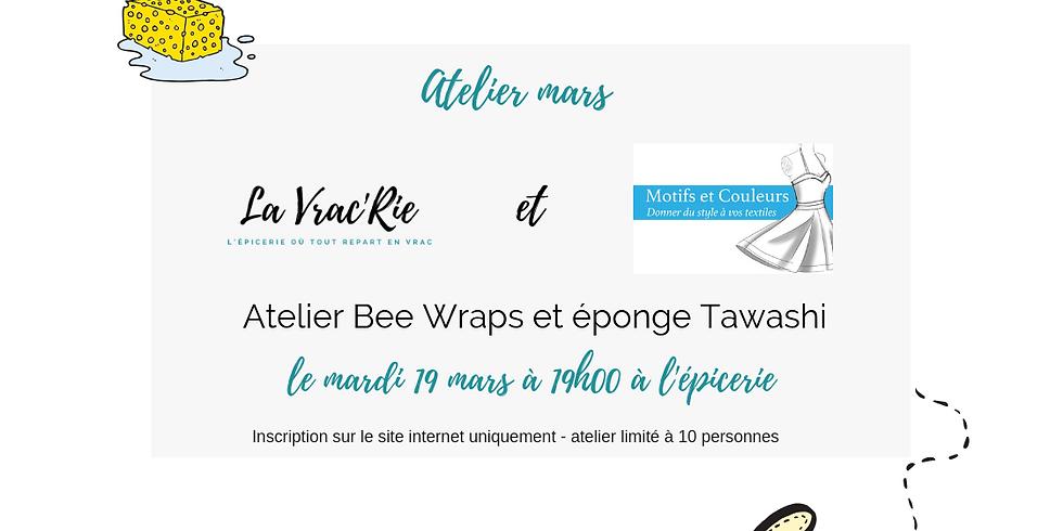 Atelier 4 : bee wraps et tawashi