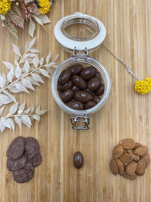 Boules amandes et chocolat lait - 100g