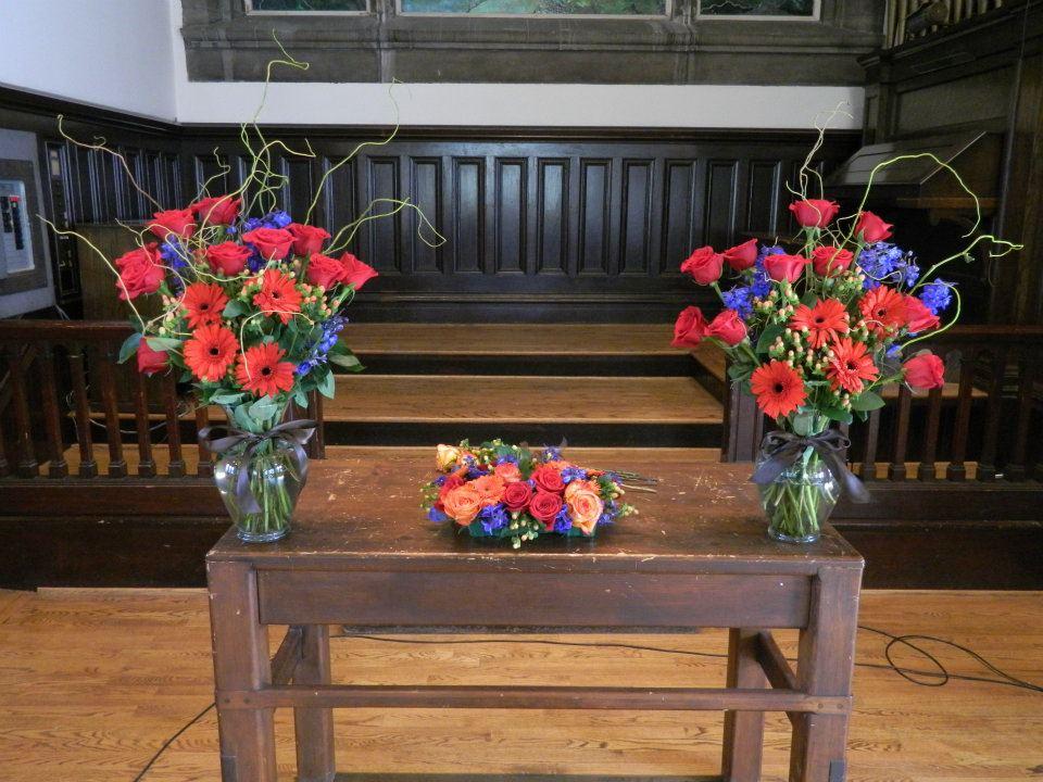schram altar vases & unity candle