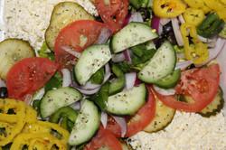 Salad Pizza Cheshire Village Pizza