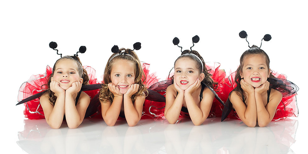 dancers-lady-bug-costume-laying-on-bellies