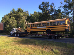 Hampshire Towing - School Bus Tow