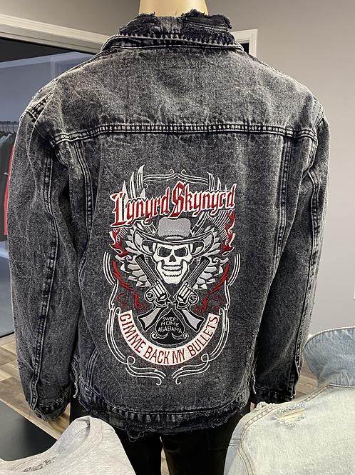 Embroidered Lynyrd Skynyrd Denim Jacket