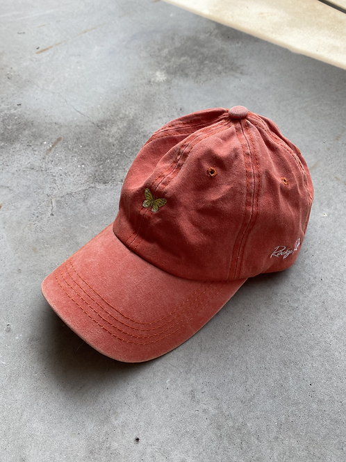 ROCKY ROSA - BUTTERFLY CAP - CORAL