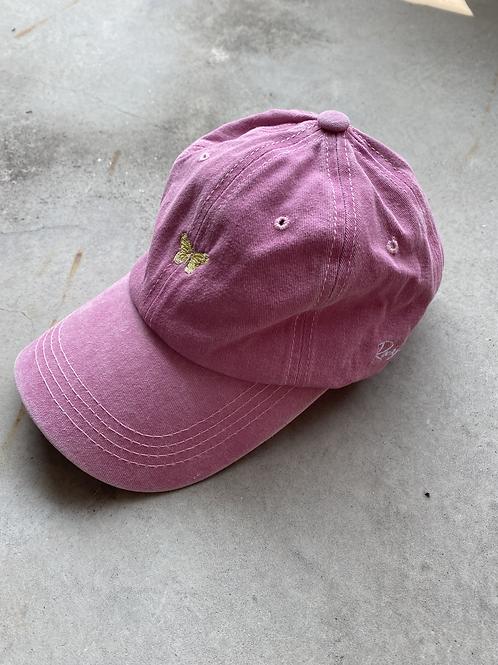 ROCKY ROSA - BUTTERFLY CAP -PINK