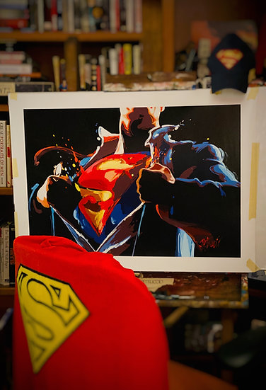 SUPERMAN: The Man of Steel Limited Edition Fine Art Giclee on Canvas (Medium)