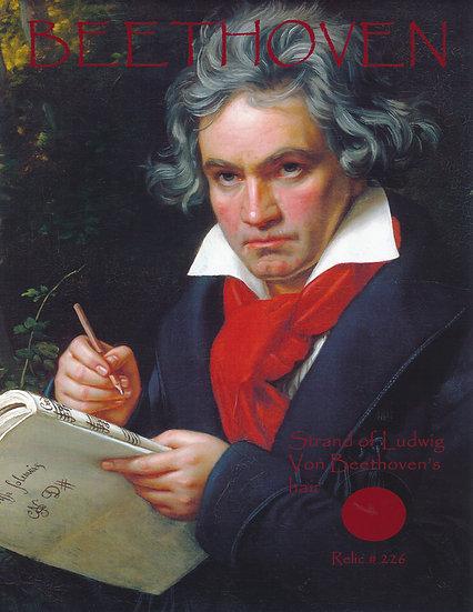 Todd Mueller Relic Card 226 - Ludwig van Beethoven Hair Strand