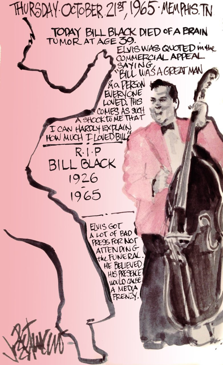 THIS DAY IN ELVIS HISTORY... RIP BILL BLACK