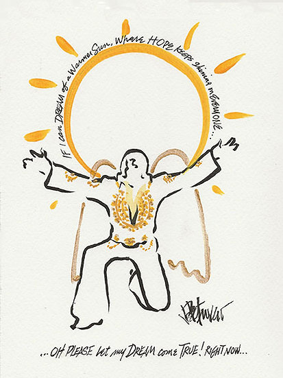 ROCK ANGEL of HOPE Original Drawing by Joe Petruccio