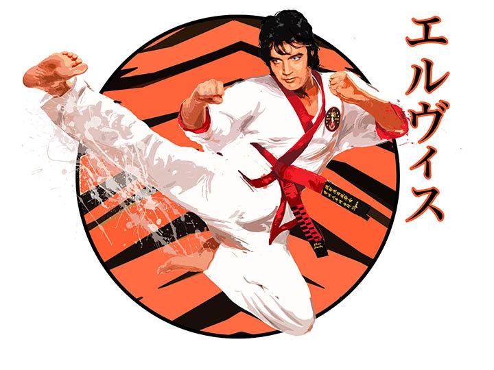Elvis Presley A KICK OUT OF ELVIS Fine Art by Joe Petruccio