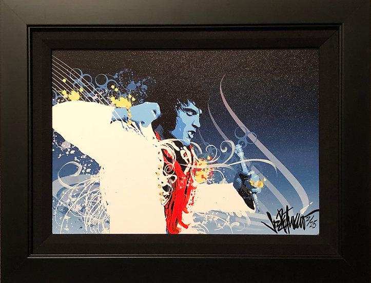 Elvis Presley CAUGHT IN A TRAP Framed Fine Art by Joe Petruccio