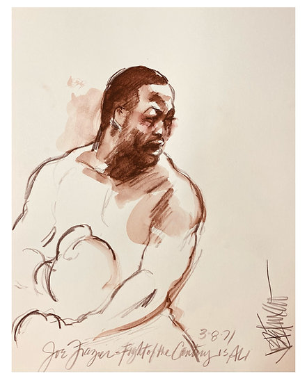 HOOK Joe Frazier Fight of the Century Original by Joe Petruccio