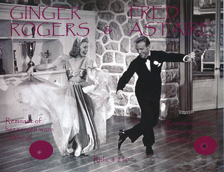 Todd Mueller Relic Card 210 - Fred Astaire and Ginger Rogers Worn Clothing