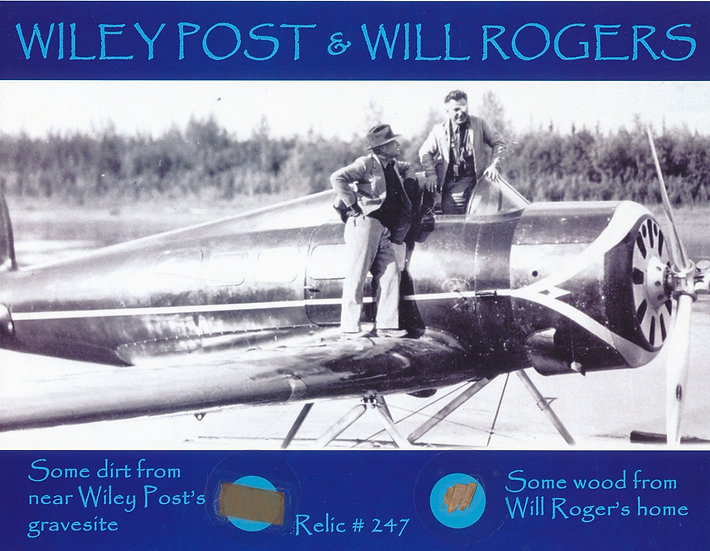 Todd Mueller Relic Card 247 - Will Rogers and Wiley Post