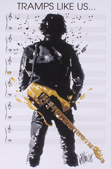 Bruce Springsteen - TRAMPS LIKE US 20x30 Canvas Artist Proof by Joe Petruccio