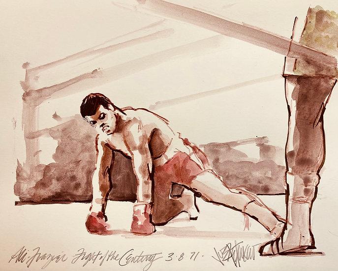 FALLEN IDOL Ali vs Frazier Fight of the Century Original by Joe Petruccio