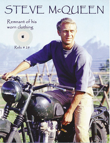 Todd Mueller Relic Card 029 - Steve McQueen Clothing