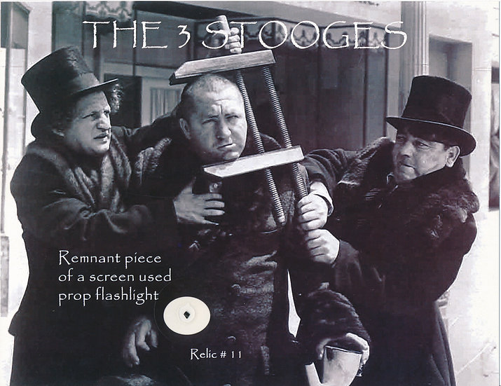 Todd Mueller Relic Card 011 - The Three Stooges Screen Used Prop