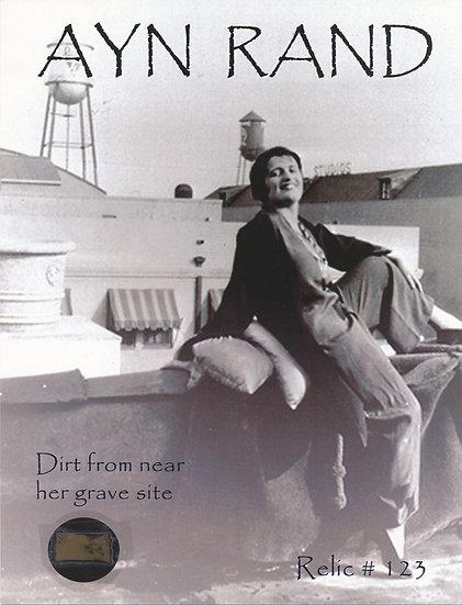 Todd Mueller Relic Card 123 - Ayn Rand Gravesite