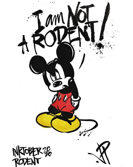 06 RODENT Original Ink on Paper by Joe Petruccio MICKEY MOUSE