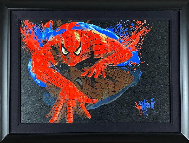 SPIDER-MAN: MY SPIDEY Mixed-Media on Canvas by Joe Petruccio