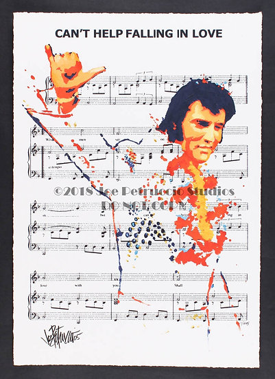 Elvis Presley CAN'T HELP FALLING IN LOVE Limited Edition Fine Art Sheet Music
