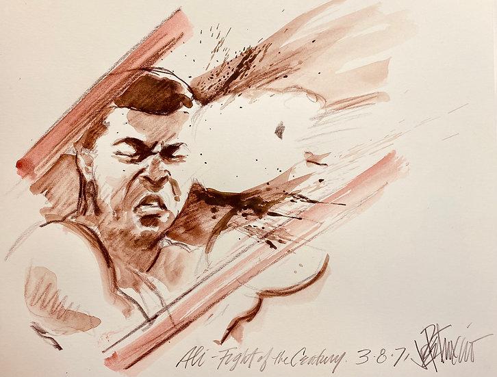BREAKING THROUGH Ali vs Frazier Fight of the Century Original by Joe Petruccio