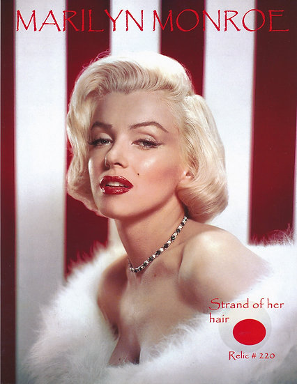 Todd Mueller Relic Card 220 - Marilyn Monroe Hair Strand