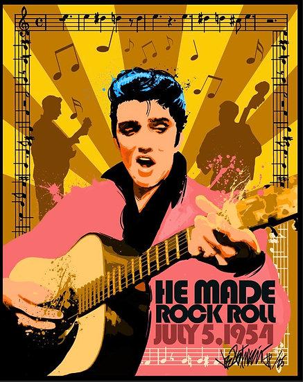 Elvis Presley HE MADE ROCK ROLL Limited Edition Fine Art by Joe Petruccio