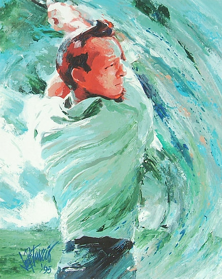 Arnold Palmer - SWING Limited Edition Giclee on Paper