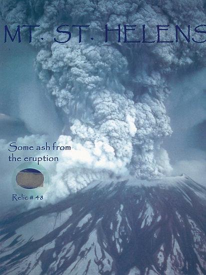 Todd Mueller Relic Card 048 - Mount St. Helens Eruption Ash