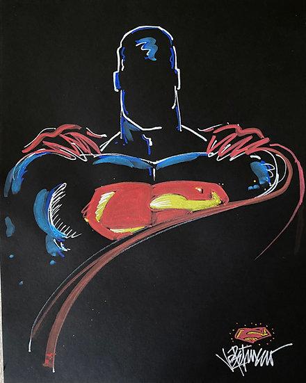BE SUPER TODAY Original Drawing by Joe Petruccio - SUPERMAN