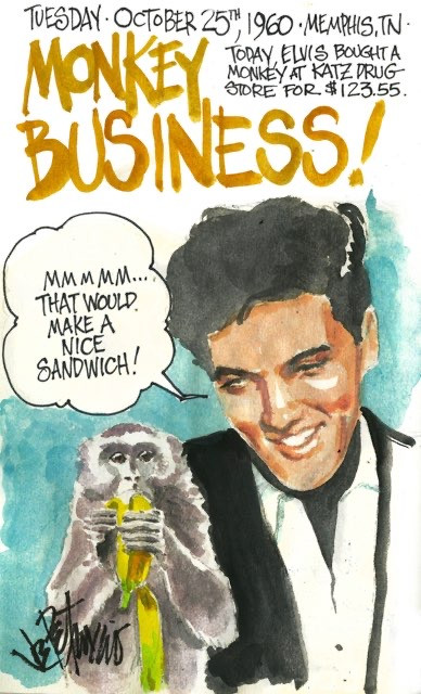 THIS DAY IN ELVIS HISTORY... MONKEY BUSINESS!