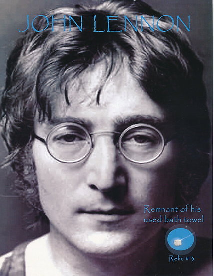 Todd Mueller Relic Card 003 - John Lennon Used Towel