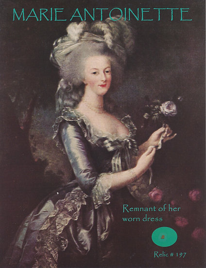 Todd Mueller Relic Card 197 - Marie Antoinette Worn Dress