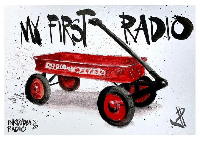 04 RADIO Original Ink on Paper by Joe Petruccio Radio Flyer