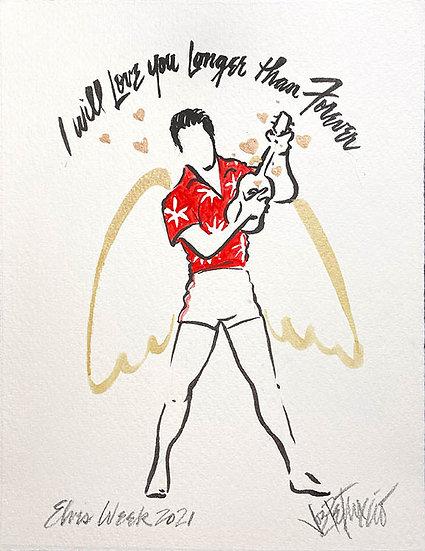 ROCK ANGEL FOREVER (2021) Original Drawing by Joe Petruccio