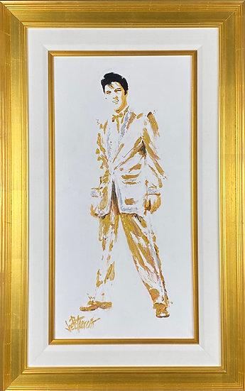 Elvis Presley GOLD LAMÉ Original Fine Art by Joe Petruccio