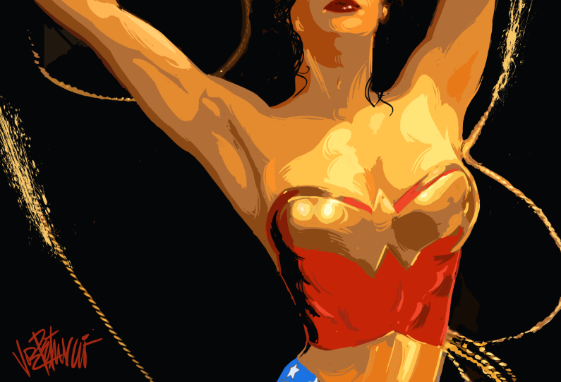 WONDER WOMAN Limited Edition Fine Art Giclee on Canvas by Joe Petruccio